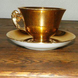 Royal Winton Gold Tea Cup Plate Set Bone China